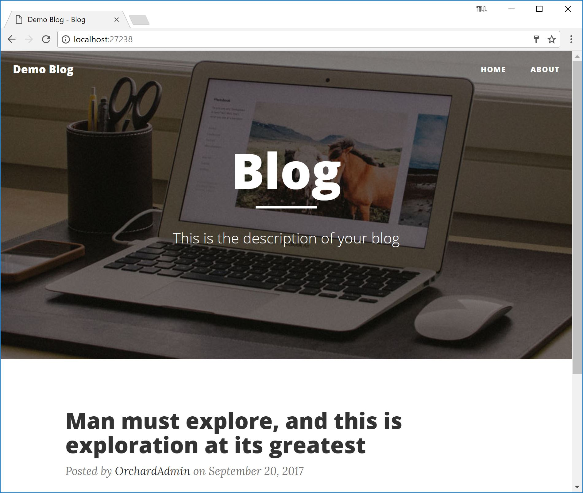 Blog Screenshot